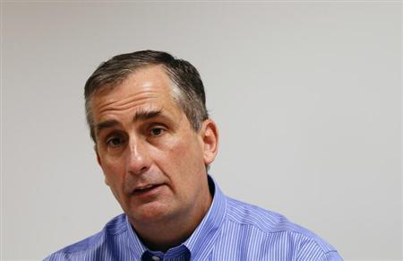 Brian Krzanich is seen during an interview with Reuters at Intel headquarters in Santa Clara, California March 13, 2012. REUTERS/Robert Galbraith/Files