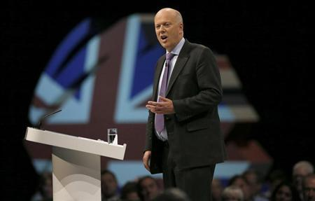 Britain's Justice Secretary and Lord Chancellor Chris Grayling delivers his keynote address on the second day of the Conservative party annual conference in Manchester, northern England September 30, 2013. REUTERS/Phil Noble