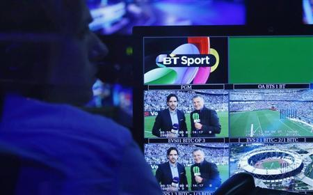 A production staff member works in the gallery during the BT Sport channel launch program at the BT Sport studio in the Queen Elizabeth Olympic Park, in east London August 1, 2013.REUTERS/Suzanne Plunkett