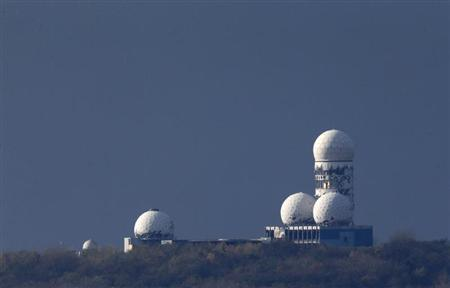 Antennas of the former National Security Agency (NSA) listening station are seen at the Teufelsberg hill, or Devil's Mountain in Berlin, November 5, 2013. REUTERS/Fabrizio Bensch