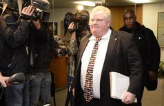 Toronto Mayor Rob Ford leaves his office at City Hall in Toronto November 19, 2013. REUTERS/Aaron Harris