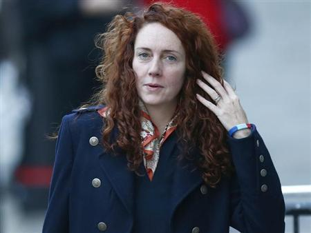 Former News International chief executive Rebekah Brooks arrives at the Old Bailey courthouse in central London November 21, 2013. REUTERS/Andrew Winning