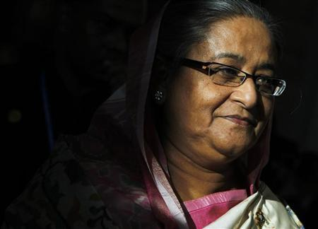 Bangladesh Prime Minister Sheikh Hasina leaves after the closing ceremony of the ASEM Summit in Vientiane November 6, 2012. REUTERS/Sukree Sukplang