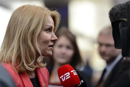 Denmark's Prime Minister Helle Thorning Schmidt arrives at the European Union (EU) council headquarters for an EU leaders summit in Brussels March 14, 2013. REUTERS/Laurent Dubrule