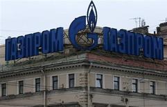 Le géant gazier russe Gazprom, contrôlé par l'Etat, a étendu sa présence, déjà considérable, dans le secteur des médias avec l'annonce mardi du rachat de Profmedia à l'homme d'affaires Vladimir Potanine. /Photo prise le 14 novembre 2013/REUTERS/Alexander Demianchuk