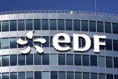 EDF, qui a cédé la totalité de sa participation de 4,01% dans Veolia Environnement pour un montant total de 262,1 millions d'euros, à suivre mercredi à la Bourse de Paris. /Photo d'archives/REUTERS/Benoît Tessier