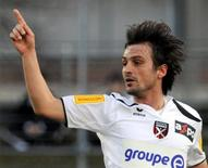 Neuchatel Xamax's Sanel Kuljic celebrates his goal during their Swiss Super League soccer match against AC Bellinzona in Bellinzona in this file March 13, 2010 photo. REUTERS/Fiorenzo Maffi