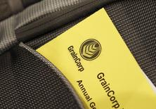 Paperwork for the GrainCorp Annual General Meeting is seen inside a bag in central Sydney December 20, 2012. REUTERS/Daniel Munoz