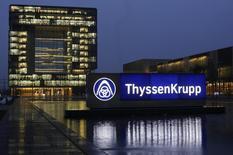 Vista geral da sede da maior siderúrgica alemã, a ThyssenKrupp, em Essen. A ThyssenKrupp deverá concluir a venda de sua unidade no Alabama por cerca de 1,5 bilhão de dólares, mas concordou em ressarcir os compradores se o desempenho da siderúrgica nos Estados Unidos for pior que o esperado, disseram à Reuters duas fontes familiares com a transação nesta sexta-feira. REUTERS/Ina Fassbender 18/11/2013