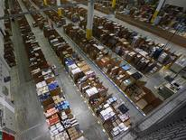 A general view of the storage hall at the 70,000 square metre warehouse floor in Amazon's new distribution center in Brieselang, near Berlin November 28, 2013. REUTERS/Tobias Schwarz