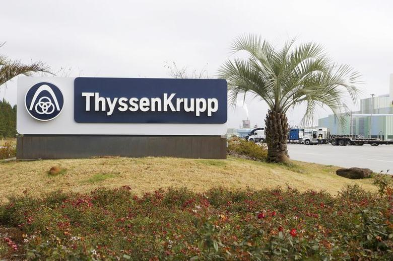 The ThyssenKrupp Steel USA factory is pictured in Calvert, Alabama November 22, 2013. REUTERS/Lyle Ratliff