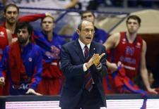 CSKA Moscow's head coach Ettore Messina reacts during their Euroleague Group D basketball game against Partizan Belgrade in Belgrade, October 18, 2012. REUTERS/Marko Djurica