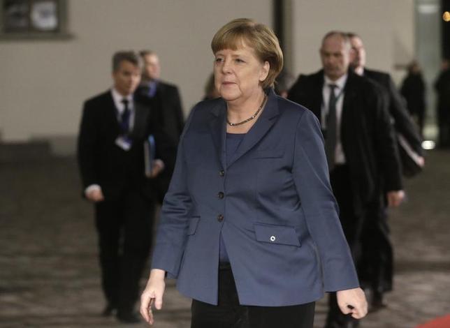 Germany Chancellor Angela Merkel arrives for the EU Eastern Partnership summit in Vilnius November 28, 2013. REUTERS/Ints Kalnins