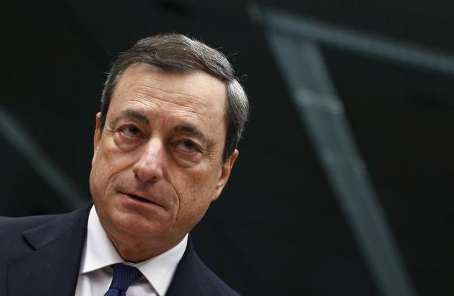European Central Bank (ECB) President Mario Draghi looks on at the start of an Eurozone finance ministers meeting in Brussels November 14, 2013. REUTERS/Francois Lenoir