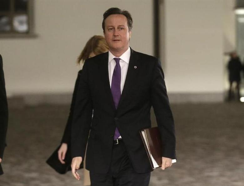 Britain's Prime Minister David Cameron arrives for the EU Eastern Partnership summit in Vilnius November 28, 2013. REUTERS/Ints Kalnins