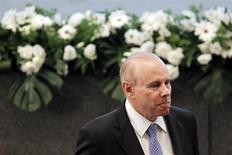 El ministro de Hacienda de Brasil, Guido Mantega, en una ceremonia en Brasilia, oct 30 2013. La inflación de Brasil podría desacelerarse a un promedio de un 4 por ciento en los próximos 10 años, dijo el lunes el ministro de Hacienda, Guido Mantega, durante un seminario en Sao Paulo. REUTERS/Ueslei Marcelino