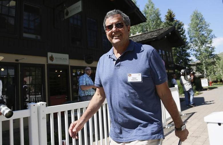 Peter Chernin, CEO of The Chernin Group, arrives for lunch at the annual Allen and Co. conference at the Sun Valley, Idaho Resort July 10, 2013. REUTERS/Rick Wilking
