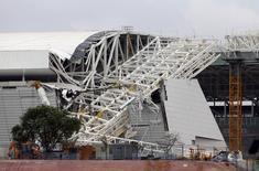 Vista geral da Arena Corinthians após acidente, na quarta-feira passada, que deixou dois mortos. REUTERS/Paulo Whitaker