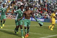 Victor Moses, da Nigéria, celebra após marcar gol contra a Etiópia, em 16 de novembro. REUTERS/Afolabi Sotunde