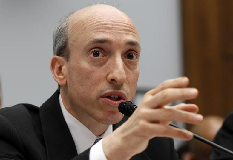 Gary Gensler, chairman of the U.S. Commodity Futures Trading Commission, testifies before a House Financial Services Committee hearing on ''Examining Bank Supervision and Risk Management in Light of JPMorgan Chase's Trading Loss'' on Capitol Hill in Washington June 19, 2012. REUTERS/Kevin Lamarque