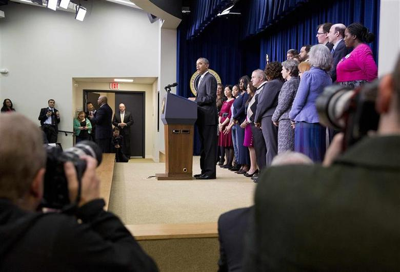 U.S. President Barack Obama speaks about the Affordable Care Act at the White House in Washington December 3, 2013. REUTERS/Joshua Roberts