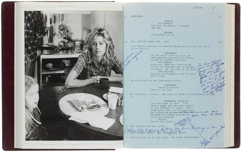 U.S. actress Farrah Fawcett's copy of the script for the film ''The Burning Bed'' is pictured in this undated handout photo courtesy of Heritage Auctions. REUTERS/Heritage Auctions/Handout via Reuters