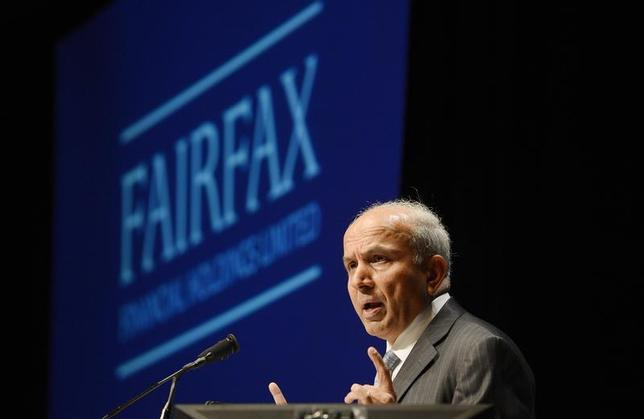 Fairfax Financial Holdings Ltd. Chairman and Chief Executive Officer Prem Watsa speaks during the company's annual meeting in Toronto April 11, 2013. REUTERS/Aaron Harris