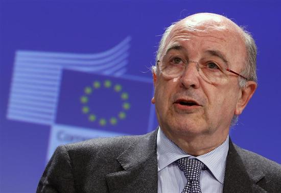 European Union Competition Commissioner Joaquin Almunia addresses a news conference at the EU Commission headquarters in Brussels December 4, 2013. REUTERS-Yves Herman