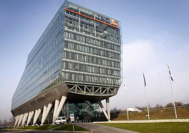 The headquarters of Dutch bank and insurance group ING is pictured in Amsterdam in this file photo taken February 29, 2008. REUTERS/Toussaint Kluiters/United Photos/Files