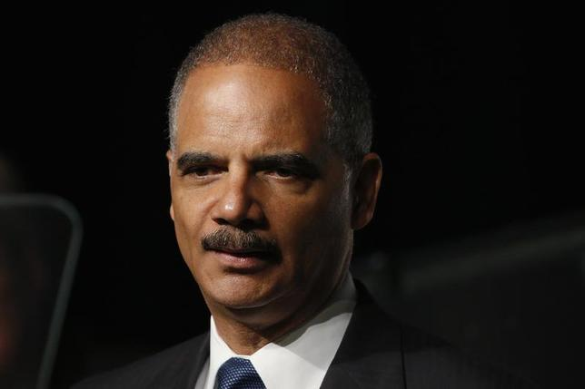 U.S. Attorney General Eric Holder speaks on stage during the annual meeting of the American Bar Association in San Francisco, California August 12, 2013. REUTERS/Stephen Lam/Files