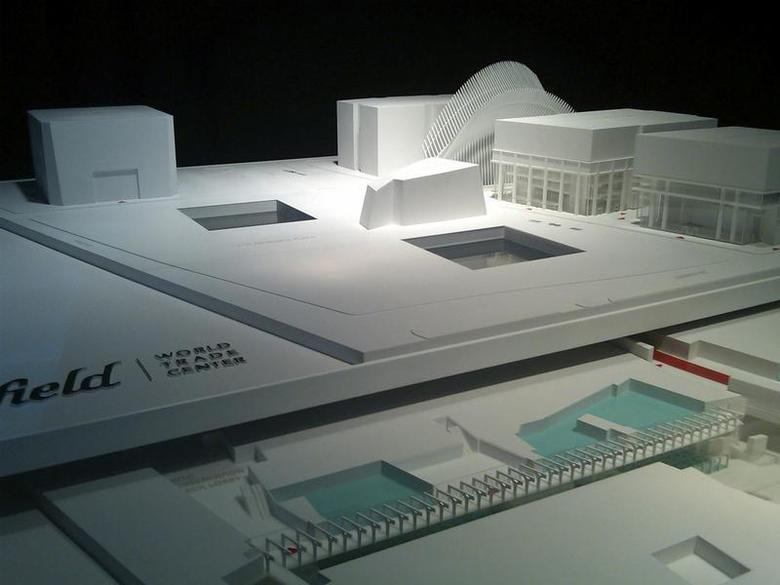 A model of the planned retail space at the World Trade Center, which will be above ground and two-stories below ground May 21, 2012. REUTERS/Ilaina Jonas