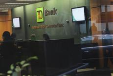 The inside of a TD Bank branch is seen in New York January 17, 2012. REUTERS/Shannon Stapleton