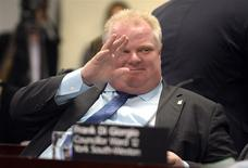 Toronto Mayor Rob Ford gestures during an executive committee meeting in Toronto, December 5, 2013. REUTERS/Aaron Harris
