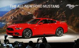 Ford Motor Co. unveils its all new 2015 Ford Mustang in Dearborn, Michigan December 5, 2013. REUTERS/Rebecca Cook