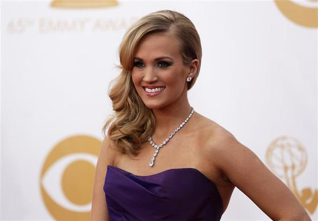 Actress and singer Carrie Underwood from ABC's series ''Nashville'' arrives at the 65th Primetime Emmy Awards in Los Angeles in this September 22, 2013, file photo. REUTERS/Mario Anzuoni/Files