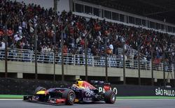 Red Bull Formula One driver Mark Webber of Australia drives during the Brazilian F1 Grand Prix at the Interlagos circuit in Sao Paulo November 24, 2013. REUTERS/Nelson Almeida