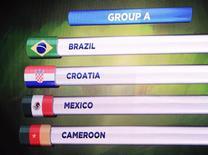Croácia, México e Camarões enfrentarão o Brasil no Grupo A da Copa-2014 6/12/2013 REUTERS/Ricardo Moraes