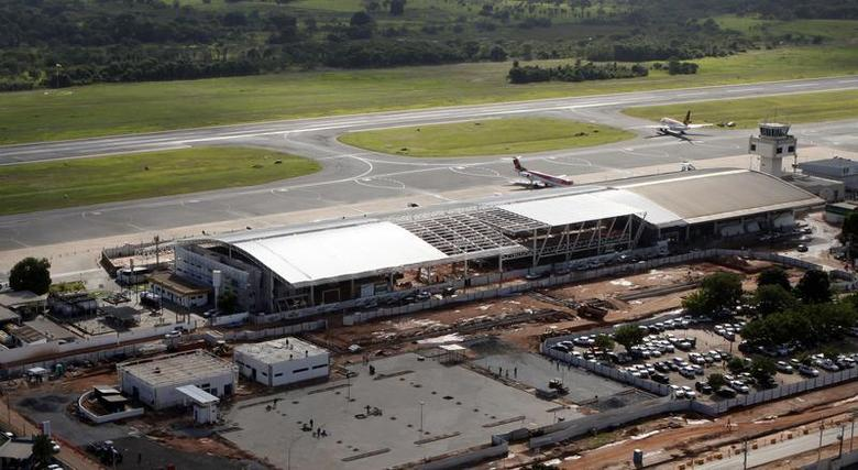 Aerial view of Cuiaba airport in extensive renovations November 18, 2013. REUTERS/Paulo Whitaker