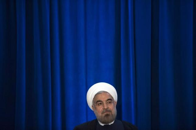 Iran's President Hassan Rouhani participates in an event hosted by the Council on Foreign Relations and the Asia Society in New York, September 26, 2013. REUTERS/Keith Bedford