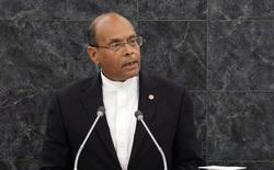 الرئيس التونسي المنصف المرزوقي يلقي كلمة في الجمعية العامة للامم المتحدة بنيويورك يوم 26 سبتمبر ايلول 2013 - رويترز