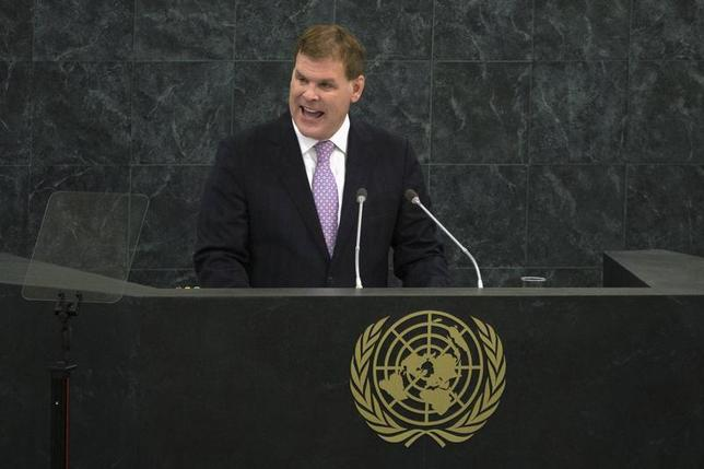 John Baird, the Minister of Foreign Affairs of Canada, addresses the 68th session of the United Nations General Assembly in New York September 30, 2013. REUTERS/Adrees Latif