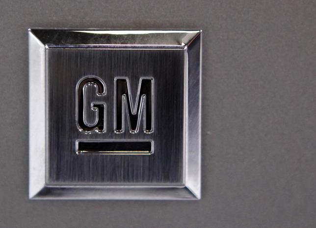 A GM logo on a vehicle at the 2009 New York International Auto Show April 9, 2009. REUTERS/Eric Thayer