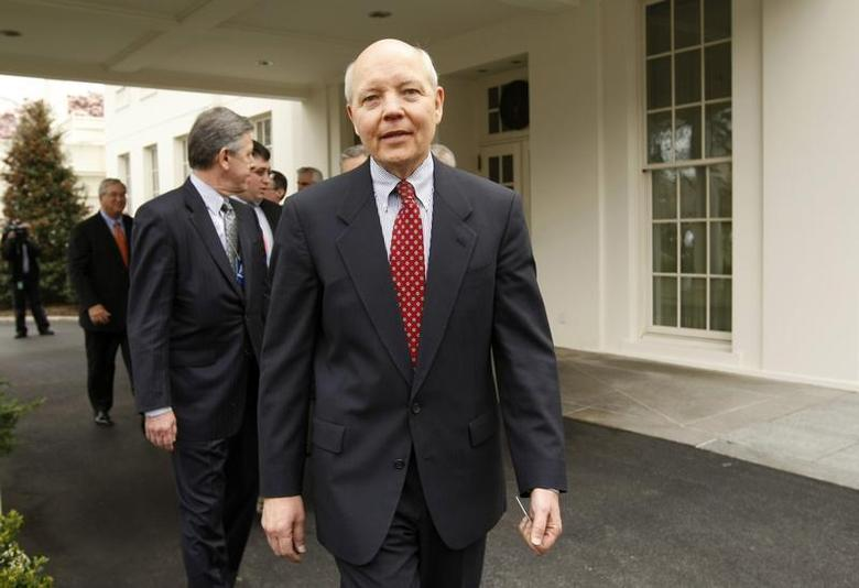 Freddie Mac Chief Executive John Koskinen departs the White House after a meeting with U.S. President Barack Obama in the State Dining Room in Washington, March 27, 2009. REUTERS/Kevin Lamarque