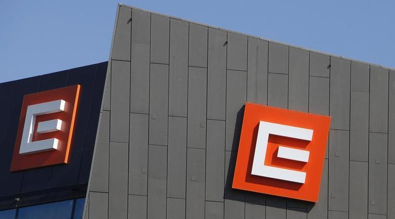 Czech electricity producer CEZ's logo is seen on the company's headquarters in Prague March 17, 2013. REUTERS/David W Cerny