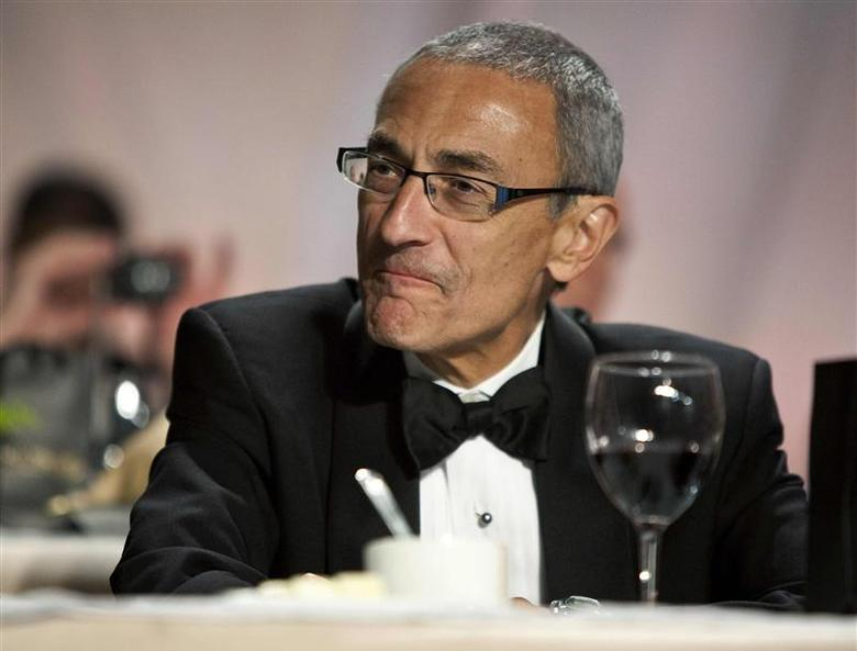 John Podesta, then president and chief executive officer of the Center for American Progress, attends the National Italian American Foundation Gala in Washington in this October 29, 2011 file photo. REUTERS/Joshua Roberts/Files