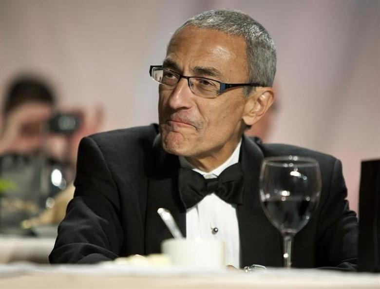 John Podesta attends the National Italian American Foundation Gala in Washington October 29, 2011 file photo. REUTERS/Joshua Roberts