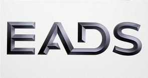 Logo of EADS is seen at the European aerospace and defence group EADS headquarters in Les Mureaux near Paris in this January 12, 2011 file photo. REUTERS/Charles Platiau