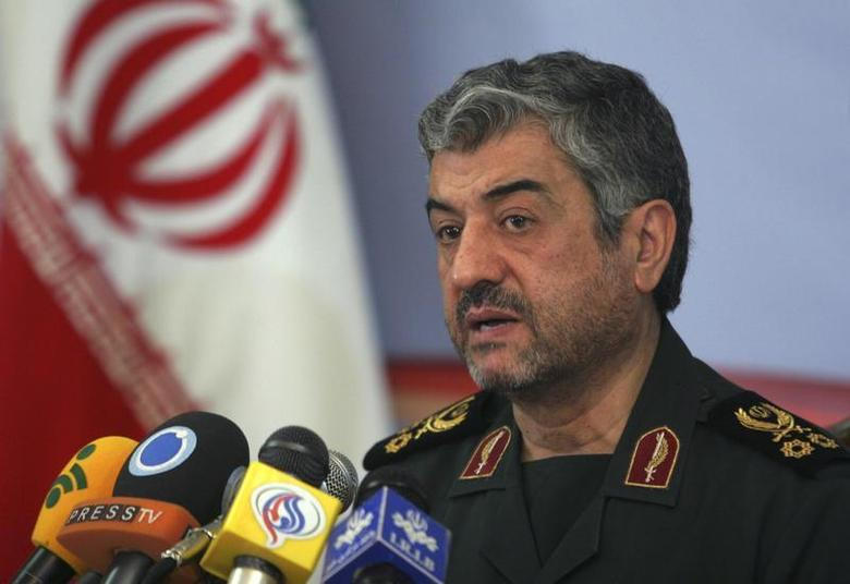 Mohammad Ali Jafari, commander of the Islamic Revolutionary Guard Corp, attends a news conference in Tehran February 7, 2011. REUTERS/STRINGER