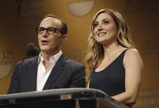 Actors Clark Gregg and Sasha Alexander announce nominees for the 20th Annual Screen Actors Guild Awards at Pacific Design Center's SilverScreen theatre in West Hollywood, California December 11, 2013. REUTERS/Mario Anzuoni