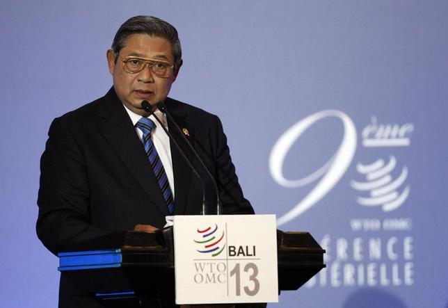 Indonesia's President Susilo Bambang Yudhoyono speaks during the opening ceremony of the ninth World Trade Organization (WTO) Ministerial Conference in Nusa Dua, on the Indonesian resort island of Bali December 3, 2013. REUTERS/Edgar Su